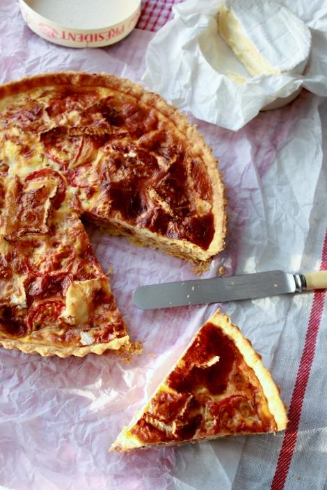 Camembert, Tomato & Shallot Tart