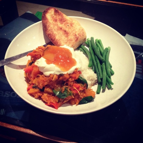 Chicken Vegetable and Spinach Curry